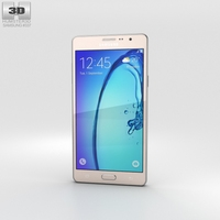Samsung Galaxy On7 Gold 3D Model