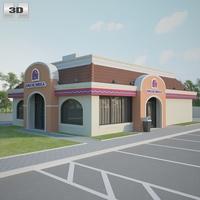 Taco Bell Restaurant 01 3D Model