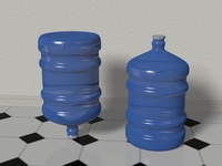 Water Bottle 5 gallons 3D Model