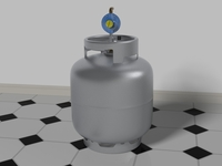 Gas Bottle with regulator 3D Model