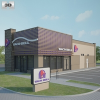 Taco Bell Restaurant 03 3D Model
