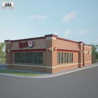 Wendy's Restaurant 01 3D Model