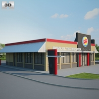 Burger King Restaurant 03 3D Model