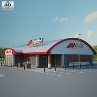 Pizza Hut Restaurant 01 3D Model
