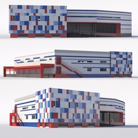Shopping center 3D Model