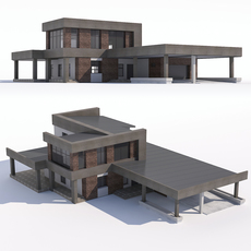 Modern country house 3D Model