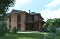 Modern country house 3D Model