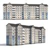 Prefabricated apartment building 3D Model