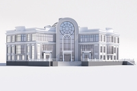 Classical public building 3D Model