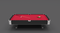 8 Ball Pool Table Red 3D Model