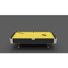 8 Ball Pool Table Yellow 3D Model