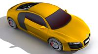 Audi R8 (Lowpoly) 3D Model