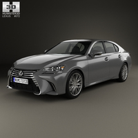 Lexus GS 2015 3D Model