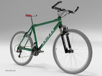 Green Mountain Bike 3D Model