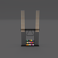 8 Ball Pool Rack 3D Model