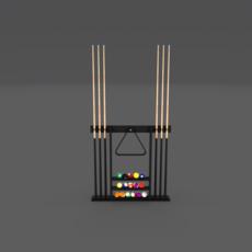 8 Ball Pool Rack 3D Model