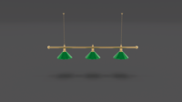 Pool Table Light Fixture 3D Model
