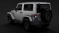Jeep Wrangler Smoky Mountain JK 2017 3D Model