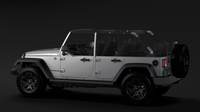 Jeep Wrangler Unlimited Willys Wheeler JK 2017 3D Model