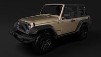 Jeep Wrangler Willys Wheeler JK 2017 3D Model