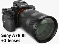 Sony Alpha 7R III with three lenses 3D Model