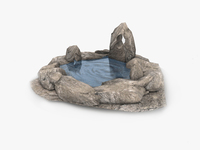 Natural spring water fountain 3D Model