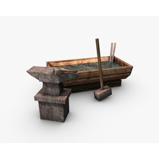 Anvil with hammer 3D Model