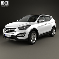Hyundai Santa Fe with HQ interior 2014 3D Model