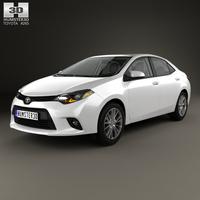 Toyota Corolla LE Eco (US) with HQ interior 2013 3D Model