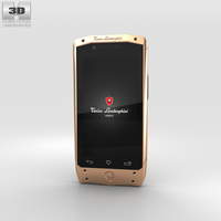 Tonino Lamborghini Antares Rose Gold Brown Leather 3D Model