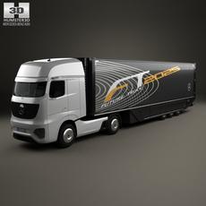 Mercedes-Benz Future Truck with Trailer 2025 3D Model