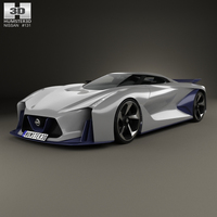 Nissan 2020 Vision Gran Turismo 2014 3D Model