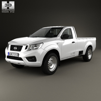 Nissan Navara Single Cab 2015 3D Model