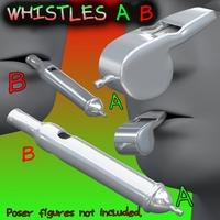 Whistles FBX_OBJ 3D Model
