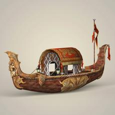 Fantasy Boat 3D Model