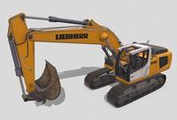 Liebherr Excavator 936 3D Model