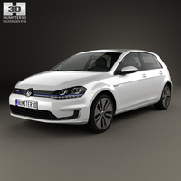 Volkswagen e-Golf 2015 3D Model
