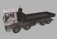 MAN TGS crane flatbed 3D Model