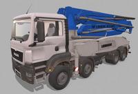 MAN Concrete pump M5 XXT 3D Model