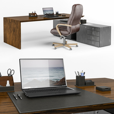 Set of items for the office 3D Model