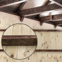 Wooden ceiling with beams. 3D Model