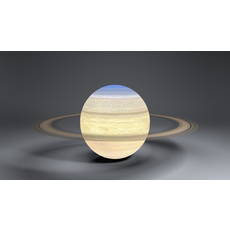 Saturn  4k Globe 3D Model