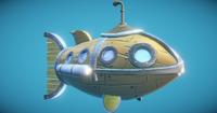 Steampunk Fish Submarine 3D Model