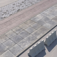 Walkway with pavers 3D Model