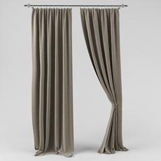Drape with a curtain 3D Model
