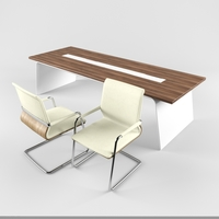 Desk with chair series SENOR 3D Model
