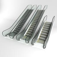 Escalator set 3D Model