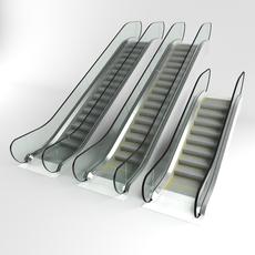 Escalator set 3D Model