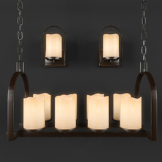 Chandelier and sconce Quoizel Aldora series 3D Model