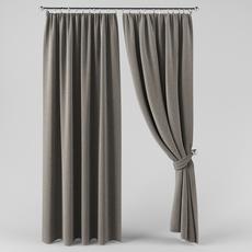 A curtain with a curtain 3D Model